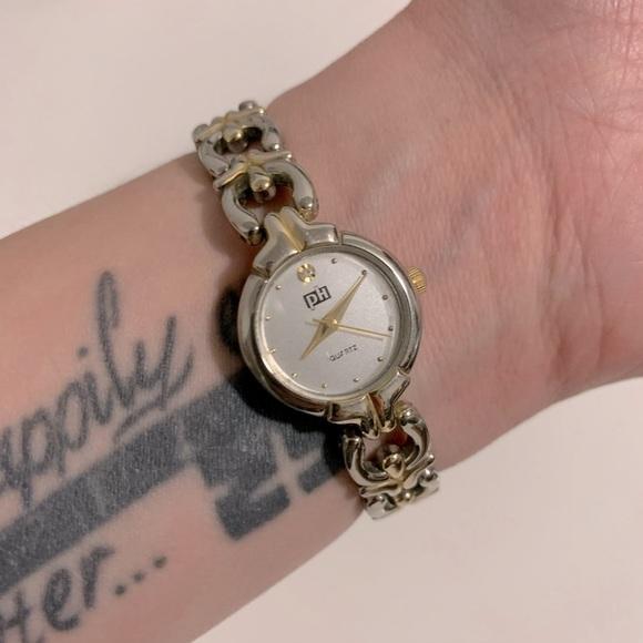 Vintage PH Gold & Silver Tone Wristwatch
